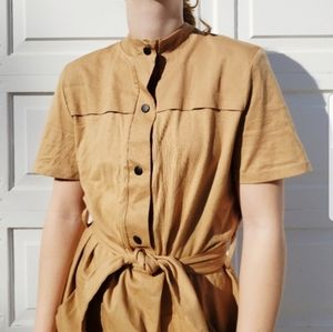 NWOT Zara Tan Dress